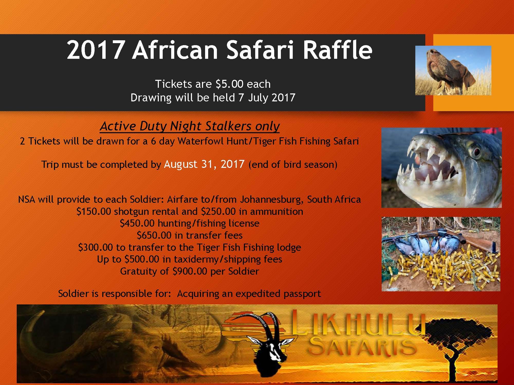 2017 African Safari Raffle