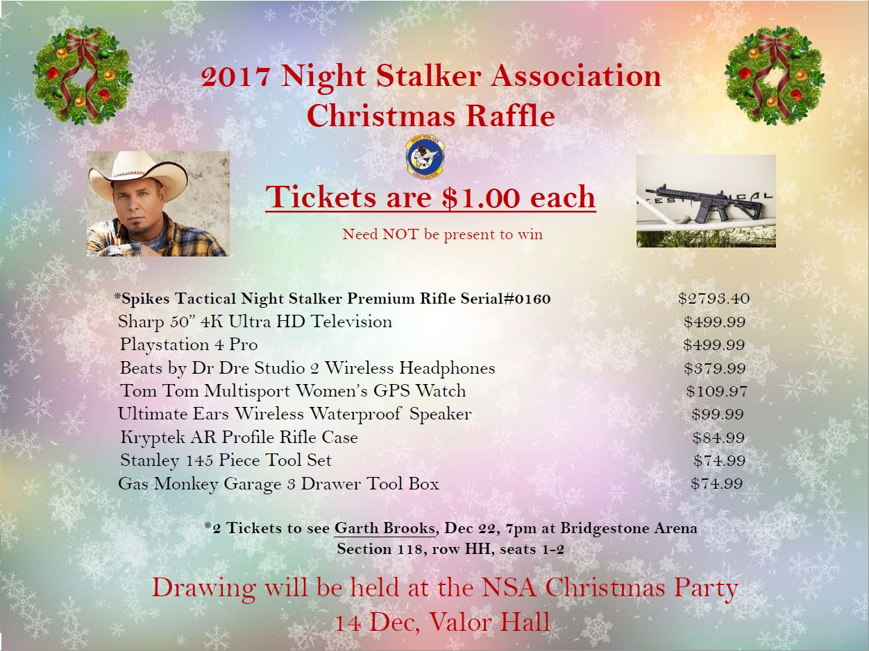 2017 Christmas Raffle Flyer