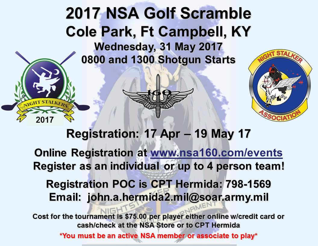 2017 NSA Golf Scramble