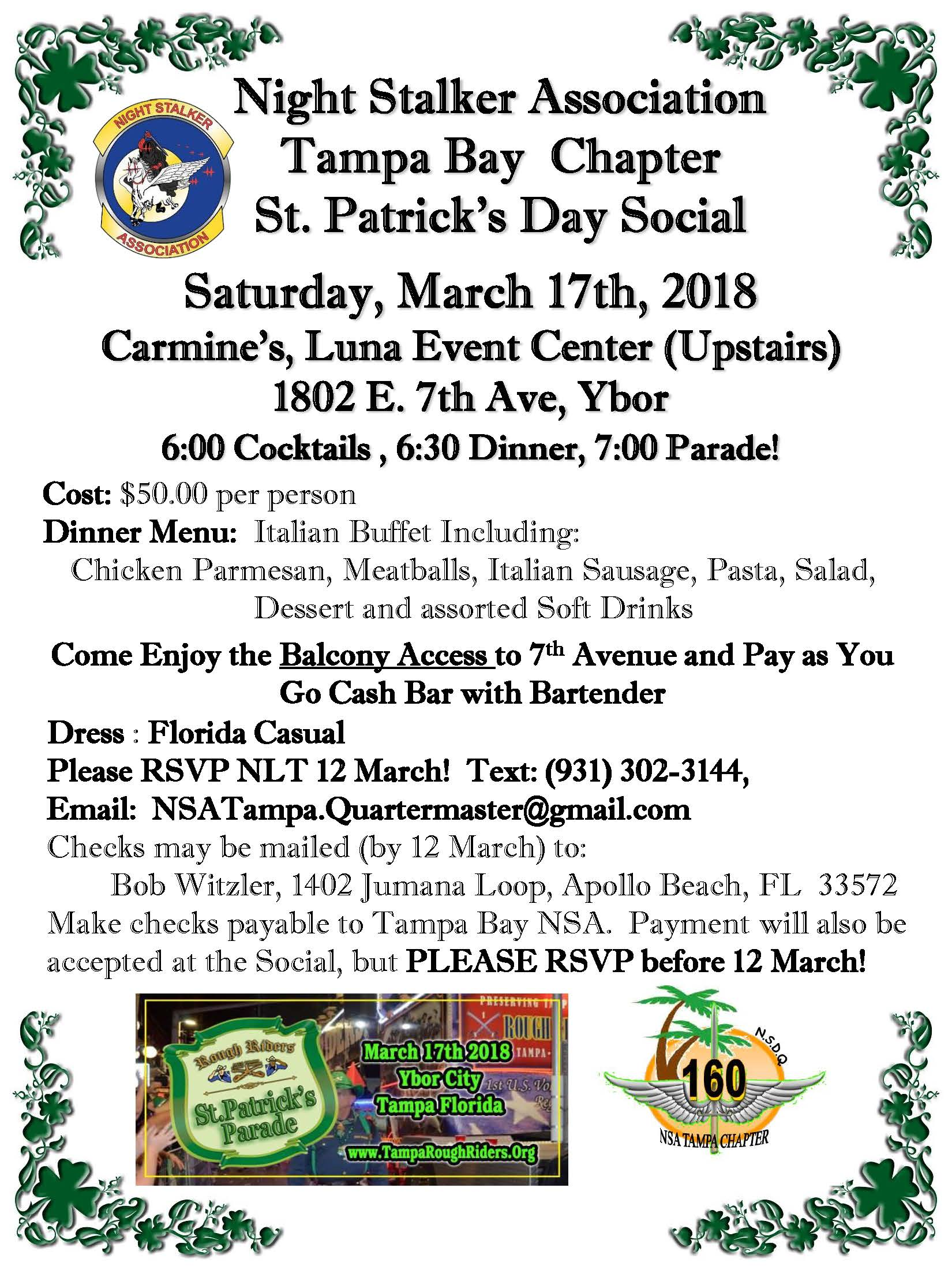 NSA Tampa ST Pattys Flyer